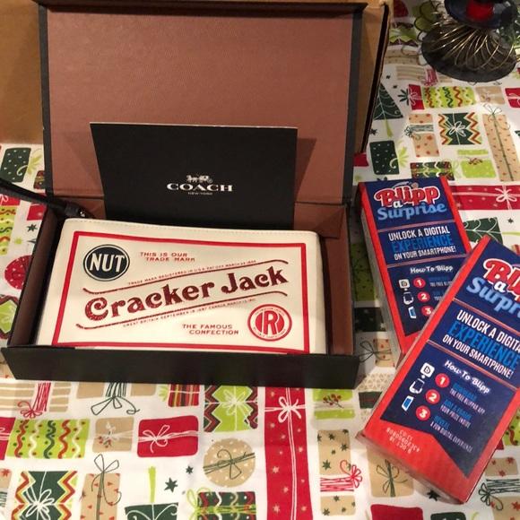 Coach Cracker Jacks Wristlet new never used